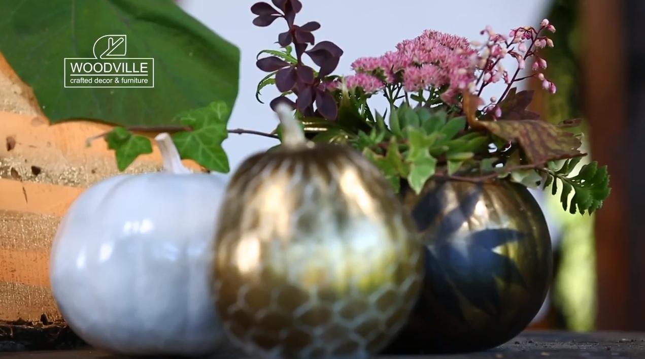 Декор на Halloween: украшаем тыкву. Видео мастер-класса
