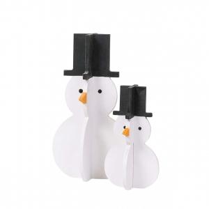 Декор 3D Снеговик