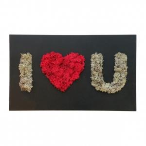 Флористическое панно I Love You