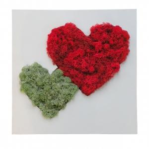 Флористическое панно Сердце