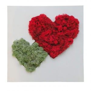Флористичне панно Серце