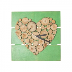 Панно годинник Серце