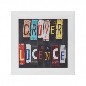 Панно текстильное Driver Licence