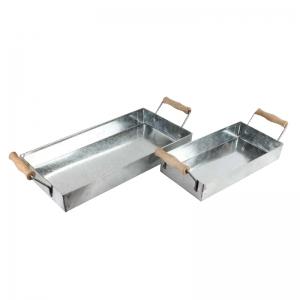 Поднос металлический с ручками