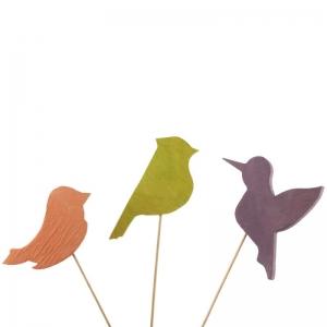 Стикер флористический Пташка