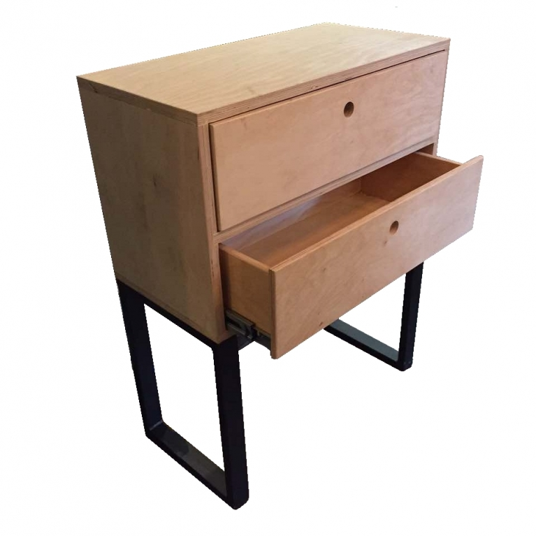 IRON Side Table (2 drawers)