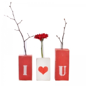 Ваза для квітів I Love You